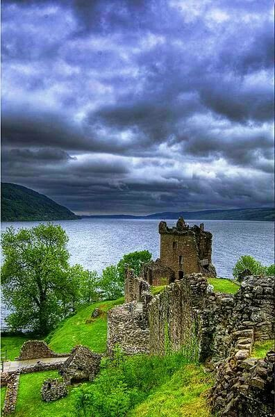 Urquhart Castle Overlooking Loch Ness SCOTLAND UK