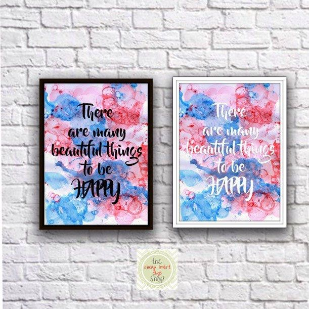 There are many beautiful things to be happy #printable #quotes
