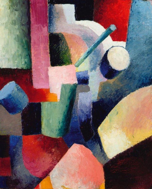 アウグスト・マッケ 「色彩のフォルム 」 1914