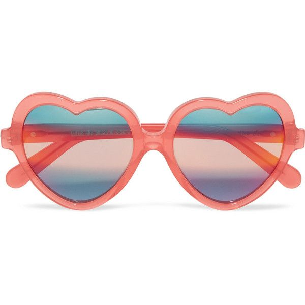 Cutler and Gross Heart-frame acetate mirrored sunglasses (€340) ❤ liked on Polyvore featuring accessories, eyewear, sunglasses, hearts, coral, heart shaped sunglasses, uv protection sunglasses, mirror glasses, mirrored sunglasses and mirrored lens sunglasses