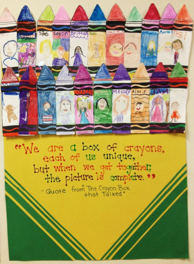 """""""We are a box of crayons, each of us unique. But when we get together, the picture is complete"""""""
