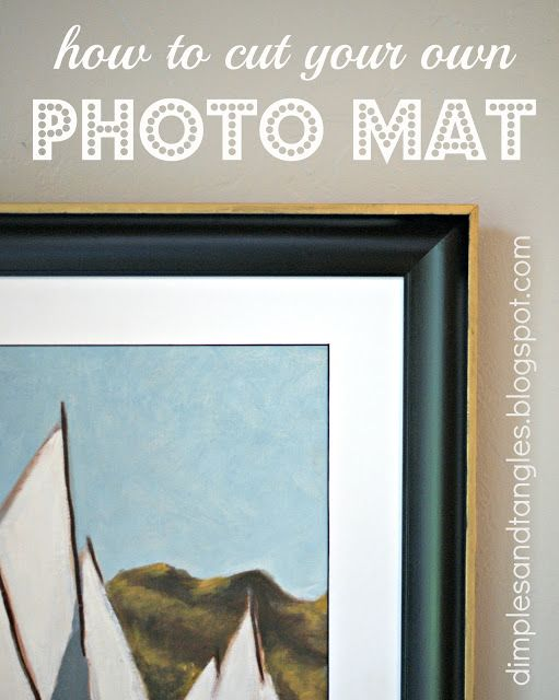 How to cut a photo mat...Dimples and Tangles: Thrift Store Finds