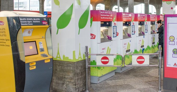 Train Ticket Machines TGV and RER - in CDG airport