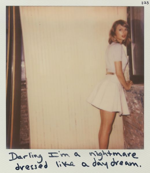 Taylor Swift Polaroid 23 - Blank Space #1989 // The way she says it in the song with that little laugh >>>>