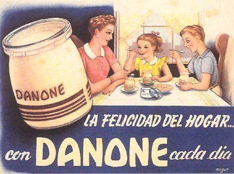 Publicidad de Danone en la década de los 40.