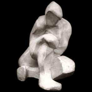 Akt kobiecy / Female Nude  1948, gips / plaster, 29 x 23.5 x 29 cm, własność prywatna / private collection