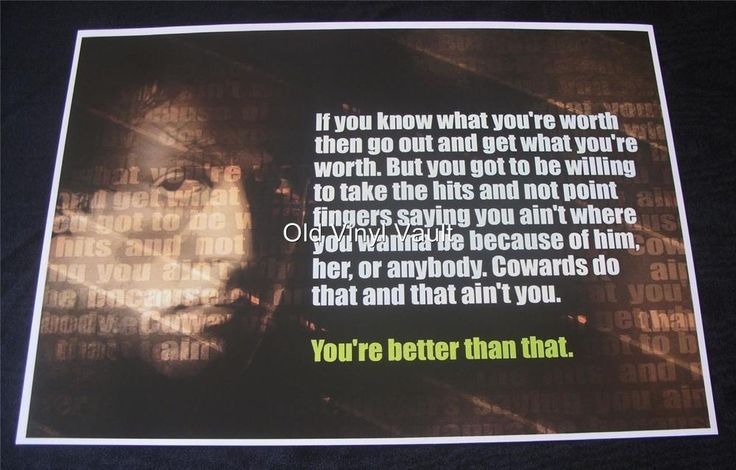 Rocky Balboa Quote A3 poster print