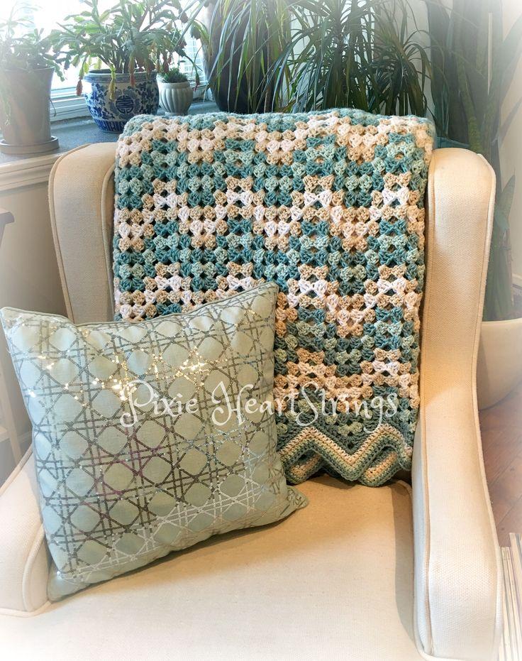 Seaside inspired crochet afghan...