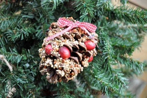 Making Bird Seed Christmas Ornaments | Squirrel, Ornament ...