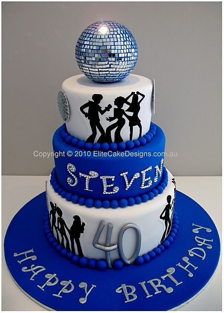 70s Disco theme birthday cake  Sylvia ...nice   60pp 790