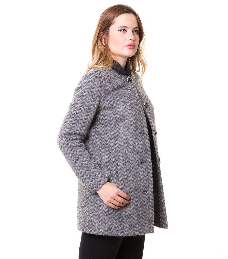 Karaca Bayan Kaban - Gri #womensfashion #outerwear #kaban #karaca #ciftgeyikkaraca www.karaca.com.tr