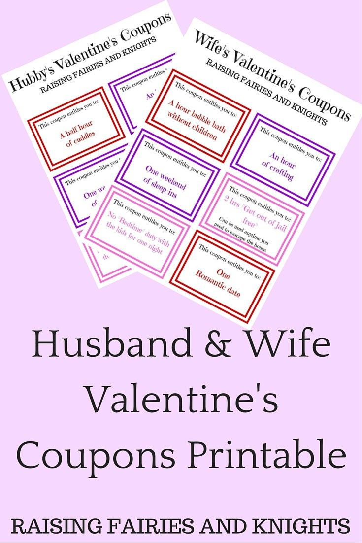 Husband wife valentine 39 s coupons printable need a last minute gift a frugal gift a heart - Code promo paul valentine ...