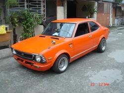 73 Toyota Corolla.... mine 1e car