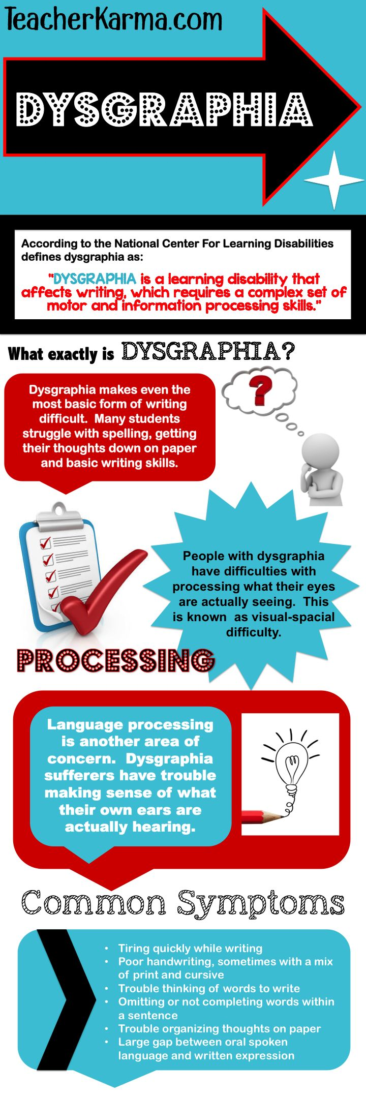 Dysgraphia information, interventions, RTI documentation, strategies and intervention checklists. TeacherKarma.com #dysgraphia