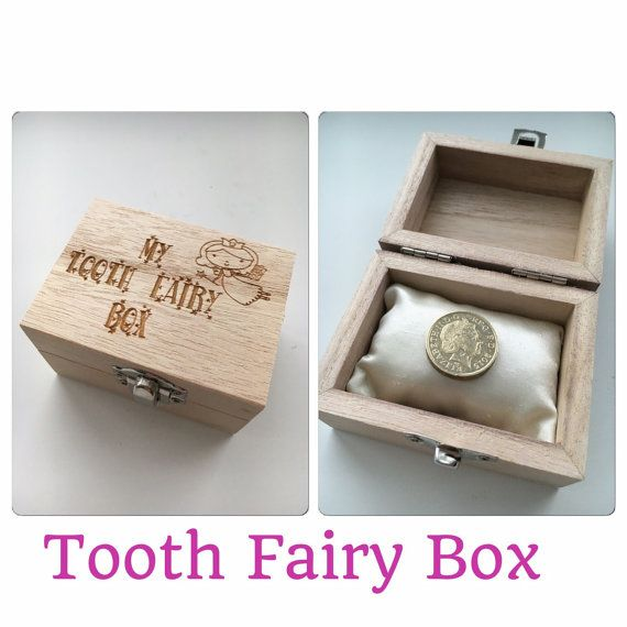 1 x My tooth fairy box engraved There are two options on this - Option A £5 you will get the engraved box with the saying my tooth fairy box