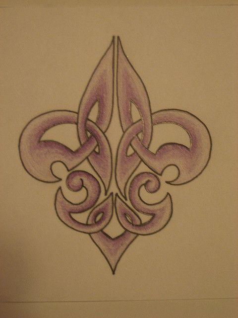 Celtic Fleur De Lis Tattoo Design