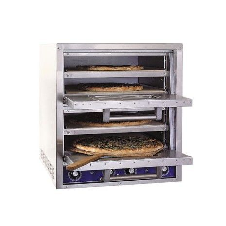 Bakers Pride P44S: Countertop Double Pizza / Pretzel Oven, 220-240V/3