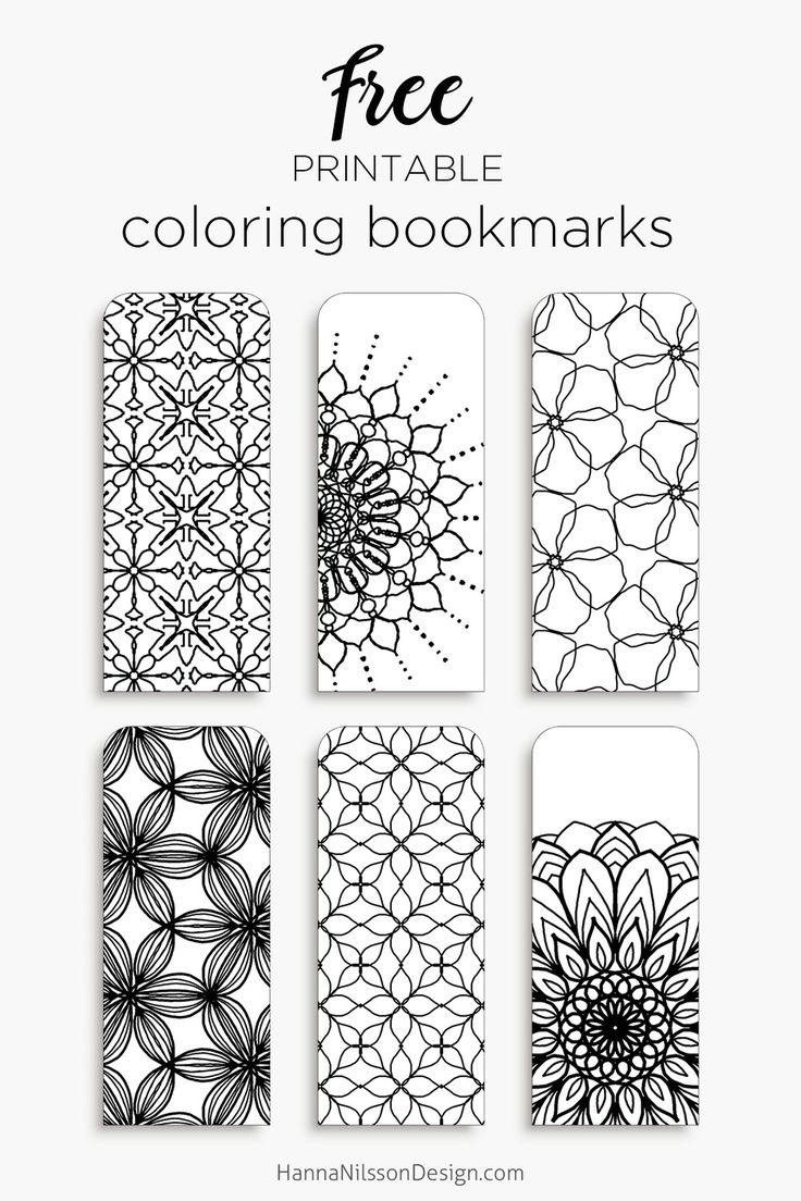 Printable Coloring Bookmarks Free : Color your own bookmarks free printable for coloring just