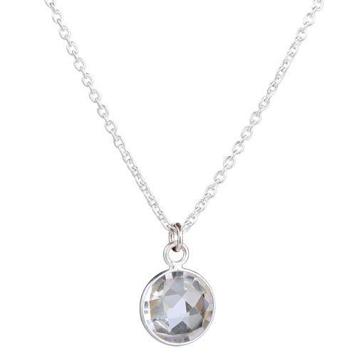FACETED CIRCLE  Facetslebet halskæde med hvid topas fra 849,-