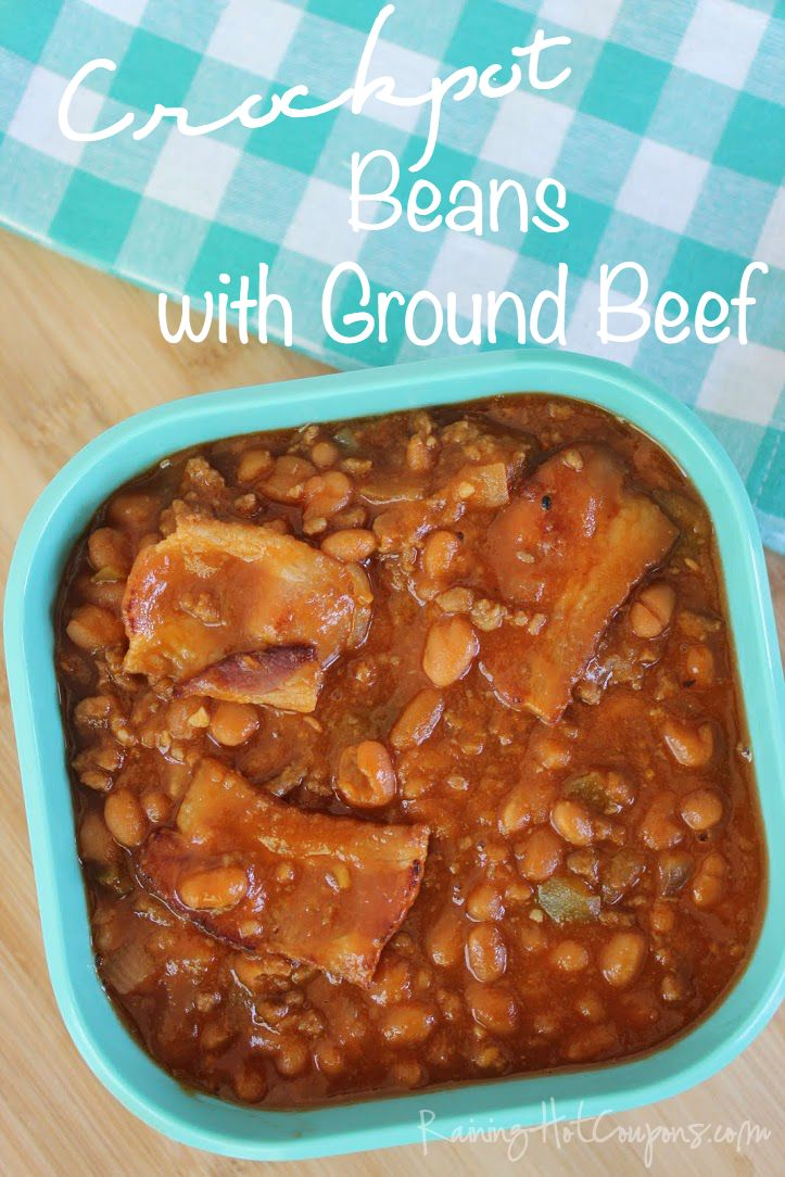 Crock Pot Beans with Ground Beef