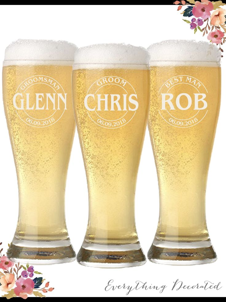 Groomsmen Gift, Personalized Glasses, Wedding Glasses, Groomsmen Beer Glass, Best Man Gift, Wedding Party Gift, Mens Gift, Gift for Husband, Gifts for Groomsmen, Groom Gift