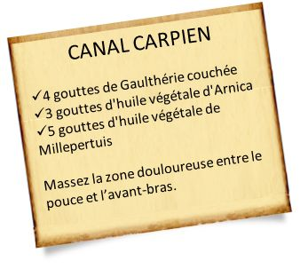 Syndrome du canal carpien : Massages aux huiles essentielles et conseils pour soulager la douleur. Plus