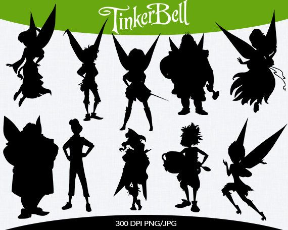 Tinkerbell Instant Download silhouette by pinkykatieclipart