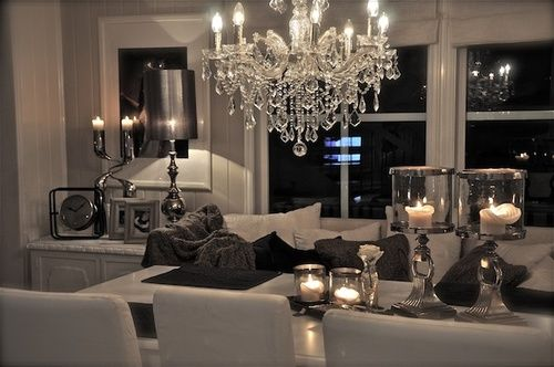 Living Room Decorating Ideas on a Budget - Love the modern color scheme for the dinning room, also the bench with pillows is a different idea
