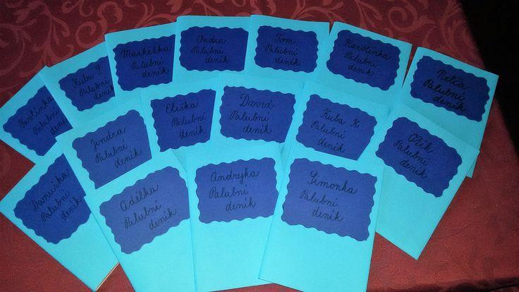 Palubní deníky pro zapisování domácích úkolů a info pro rodiče