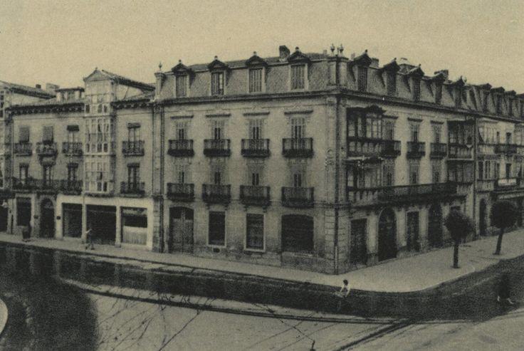 Casa de la Marquesa en calle Fueros esquina con calle Independecia. Año 1955