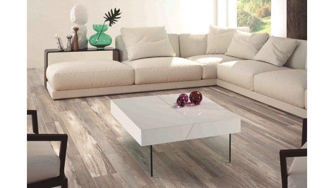 Table basse carrée avec rangement - Paz