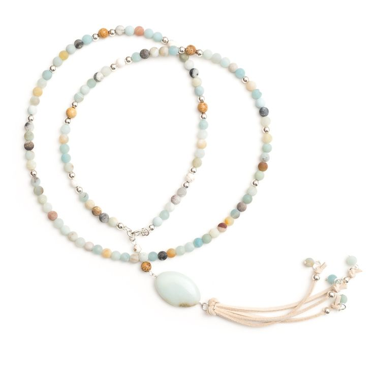 xada jewellery - Amalfi long Boho Stone bead tassel necklace, $69.95 (http://www.xadajewellery.com/shop-by-collection/spring-summer-2015/long-boho-stone-bead-tassel-necklace/)
