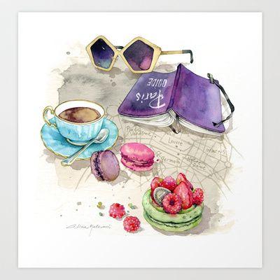 Tea time Art Print by Alicia Malesani - $23.00