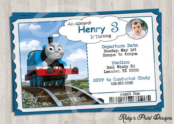 thomas the train personalized invitations by rubysprintdesigns thomas invitations