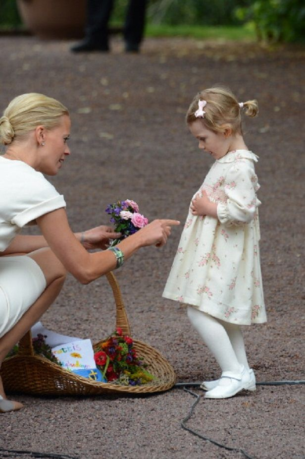 Swedish little Princess Estelle attends the  Crown Princess Victoria Birthday celebrations at Solliden, 14.07.2014 in Oland, Sweden.