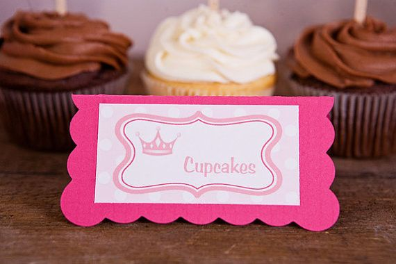 Princess Food Tents Baby Shower - Hot Pink & Light Pink