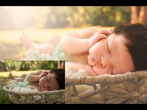 Editing Newborns Outdoors | A Photoshop Tutorial 2 - YouTube
