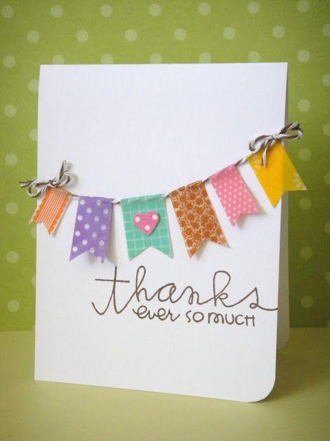 Cute washi tape banner card