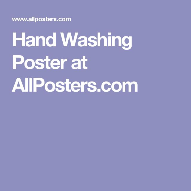 Hand Washing Poster at AllPosters.com