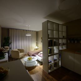 Interiér jednoizbového bytu