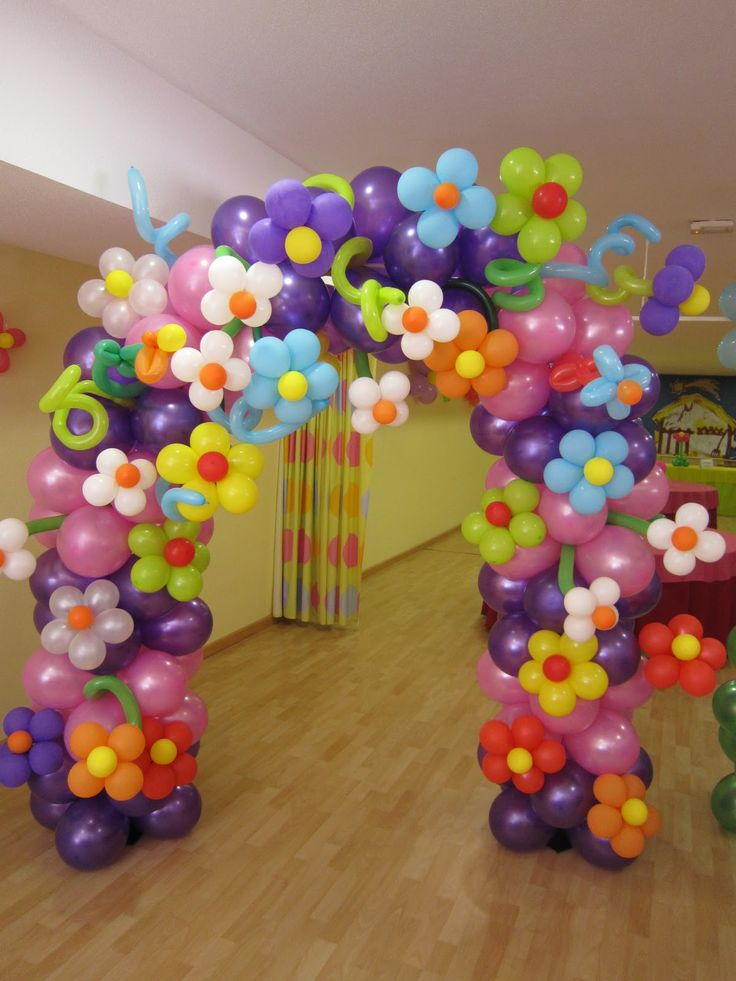 Flower balloon arch colorful and pretty
