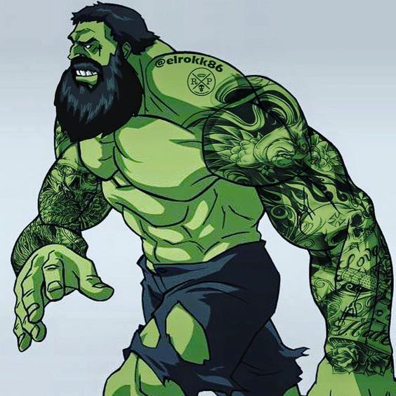 #Hulk #Fan #Art. (Bearded HULK) By: @Elrokk86. ÅWESOMENESS!!!™ ÅÅÅ+
