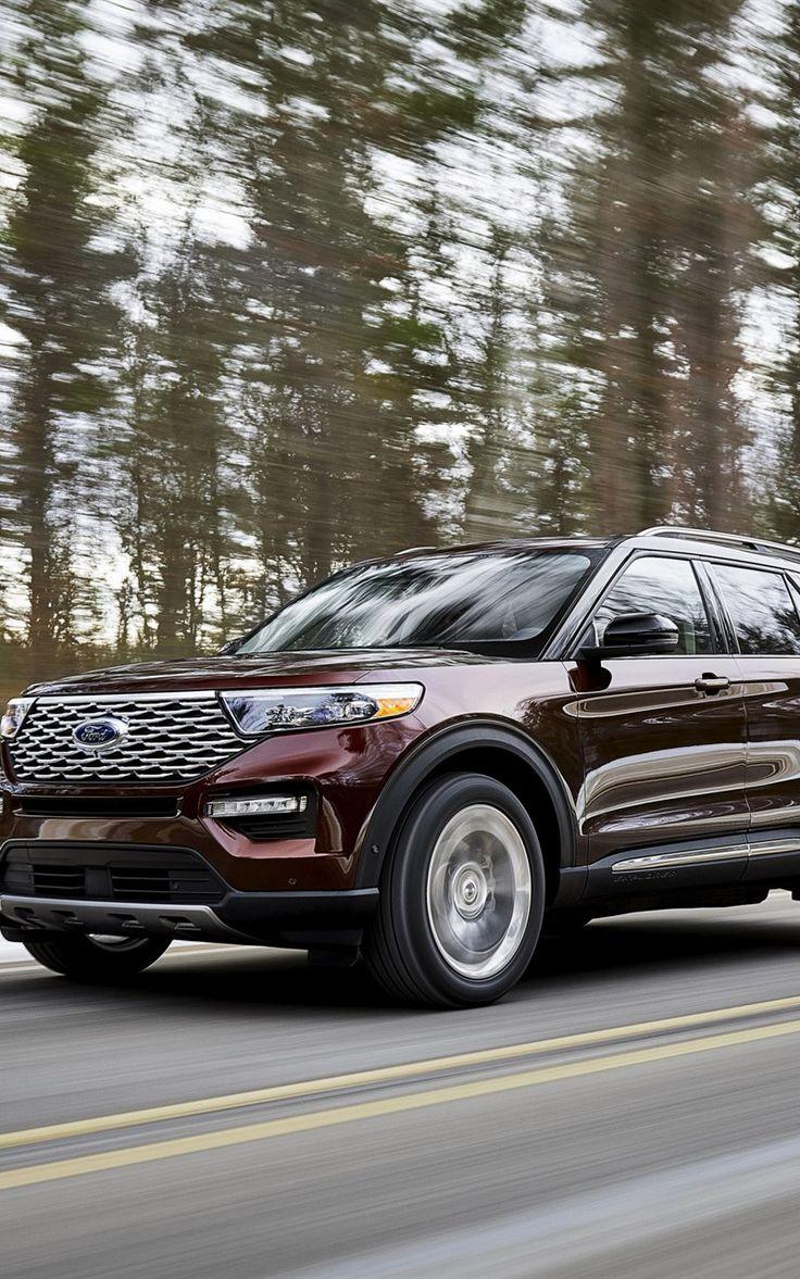 Ford Explorer Platinum, 2020, luxury SUV, new burgundy