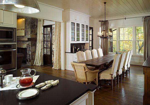 rustic rectangular dining table
