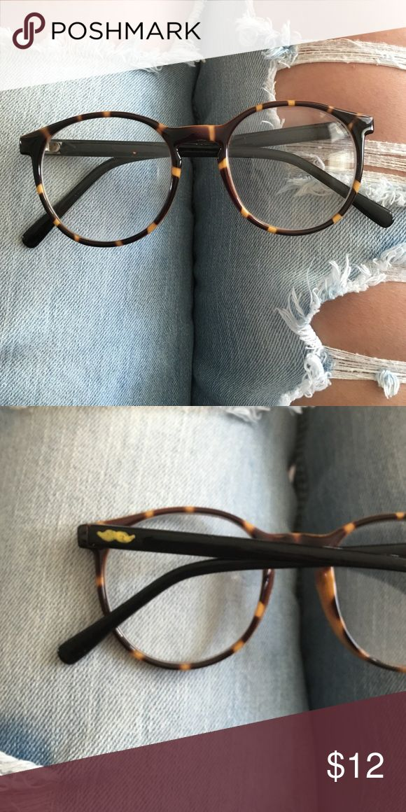 Fake Glasses Perfect condition, painted mustache on the side Urban Outfitters Accessories Glasses