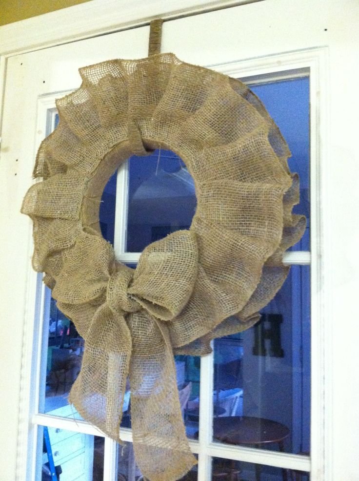 The 25 best burlap ribbon crafts ideas on pinterest for Burlap ribbon on tree