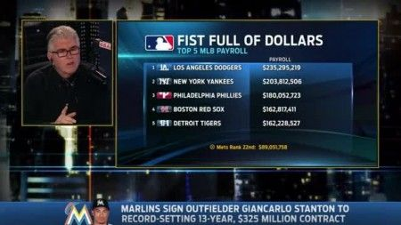 Francesa defends Giancarlo Stanton's $325-million contract