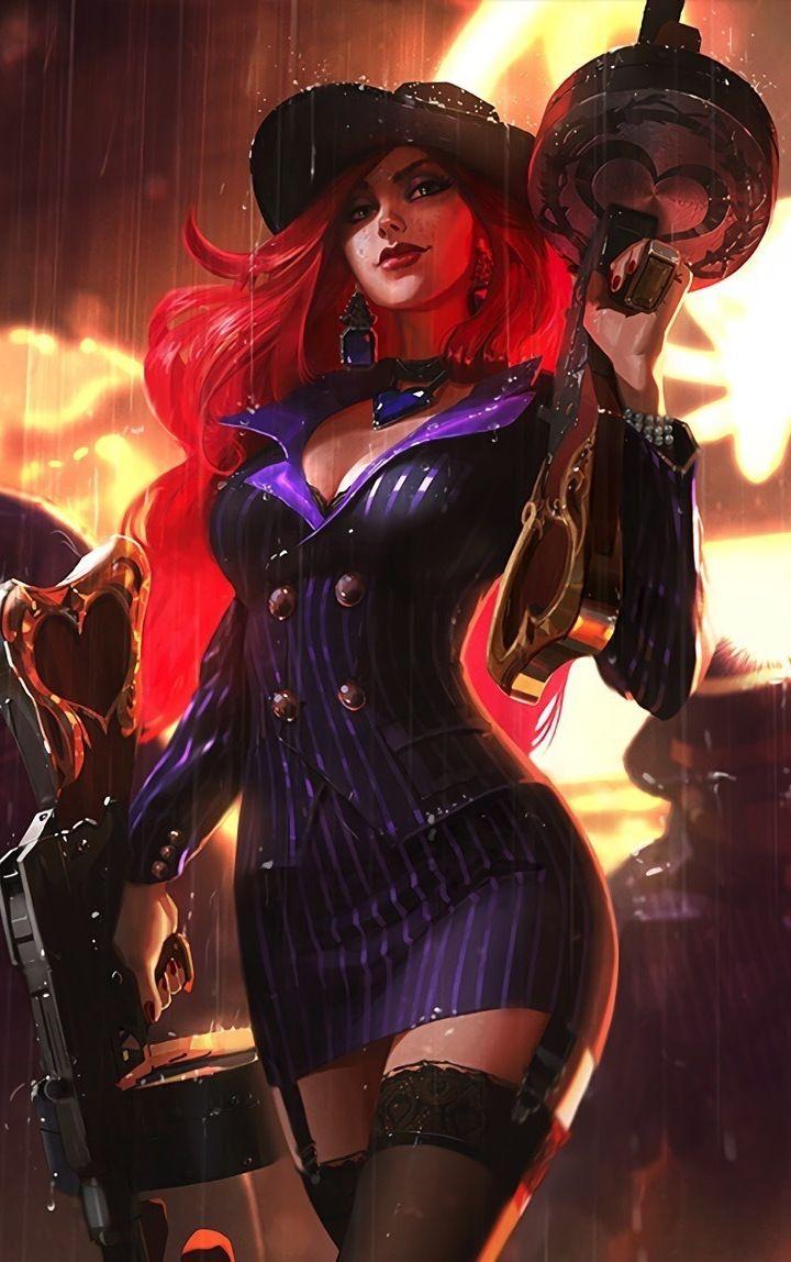 Miss Fortune League Of Legends Guns Rain 720x1280 Wallpaper Miss Fortune League Of Legends League