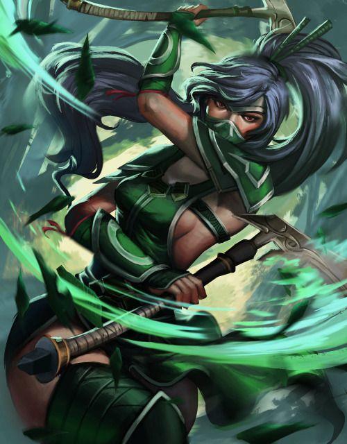 Akali, the Fist of Shadow - League of Legends fan art by Gialer... #InspireArt - #Art #LoveArt http://wp.me/p6qjkV-4pz