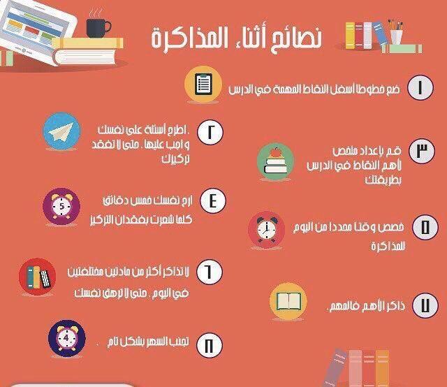 خمسون تصميم انفوجرافيك وفيديو ارشادات وتوجيهات لقبل وأثناء فترة الاختبارات Study Skills Study Tips College Learning Websites